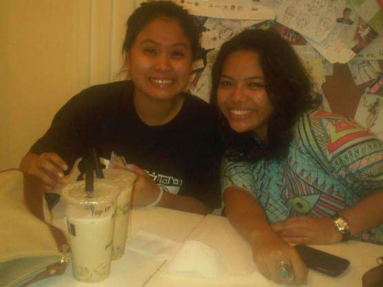 Erika and Lexie from across the table :)