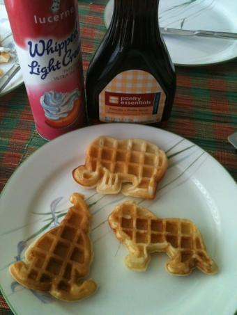Waffles for breakfast one Friday morning!