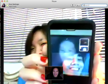 """Communication is key"" Skyping with Cez :)"