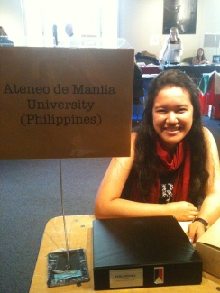 I represented Ateneo for University of San Francisco's Study Abroad Fair.