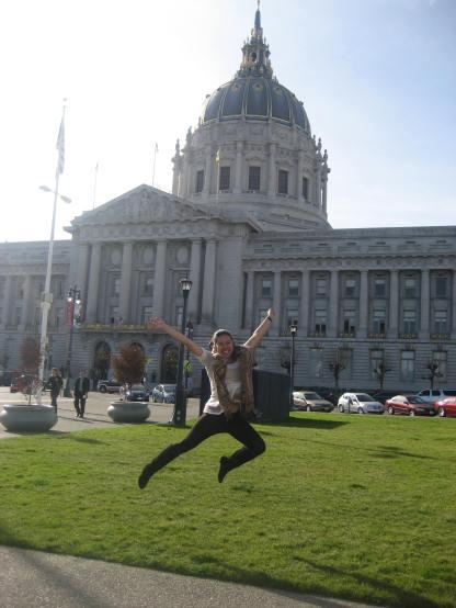 Obligatory 'Kara is jumping' photo