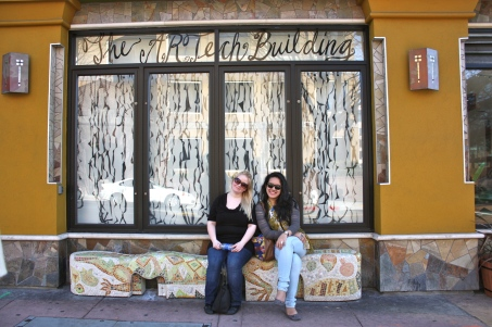 With Marika along the art district of Berkeley, CA.