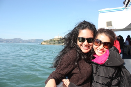 My favorite photo from the trip to Alcatraz! With Natalie :)